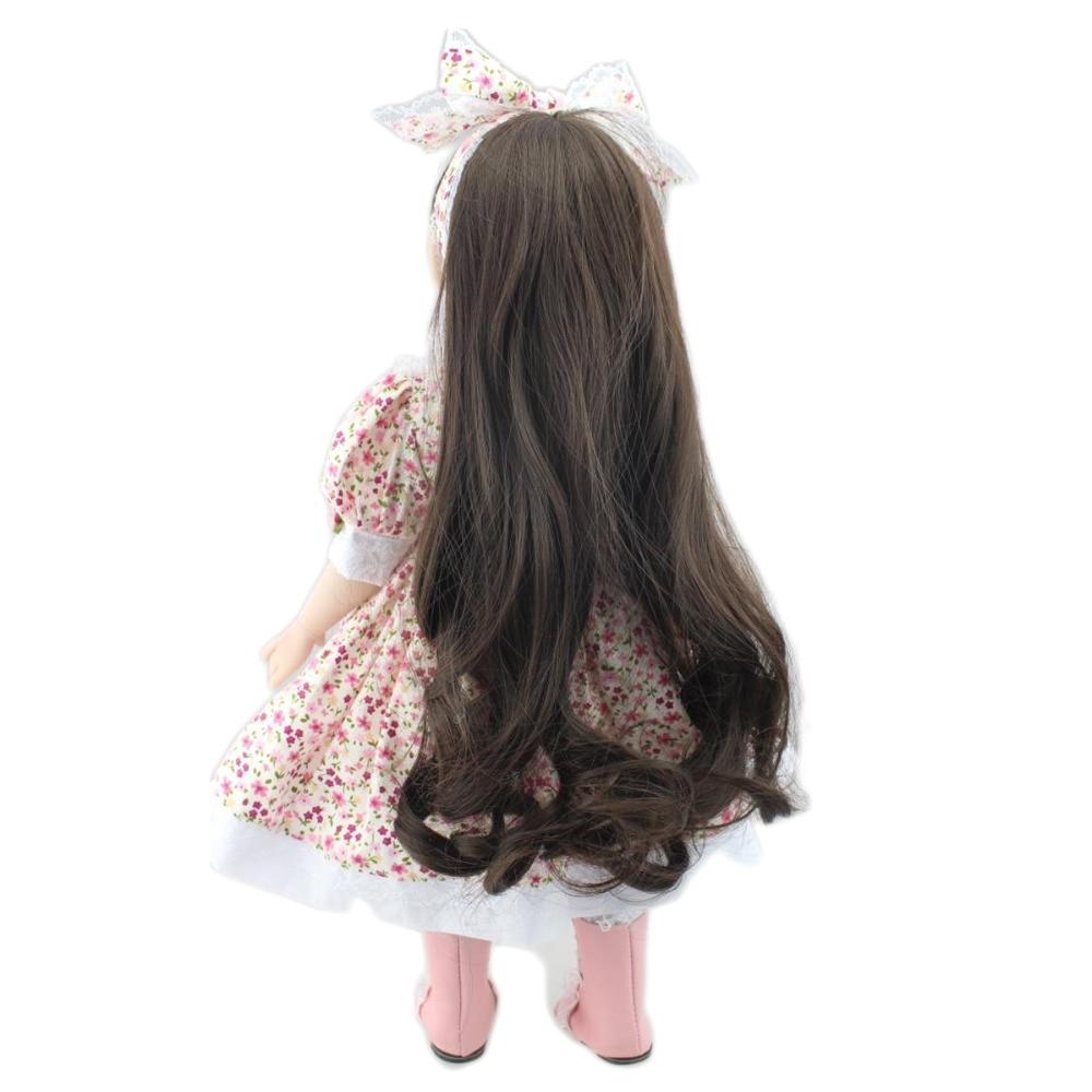 npk 18 inch american full vinyl girl doll princess bath toys gift realistic reborn baby doll toy 45cm corpo todo menina boneca in dolls from toys hobbies