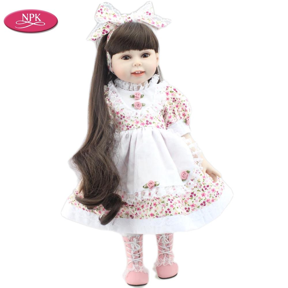 18 Inch Doll Bathtub Npk 18 Inch American Full Vinyl Girl Doll Princess Bath toys Gift