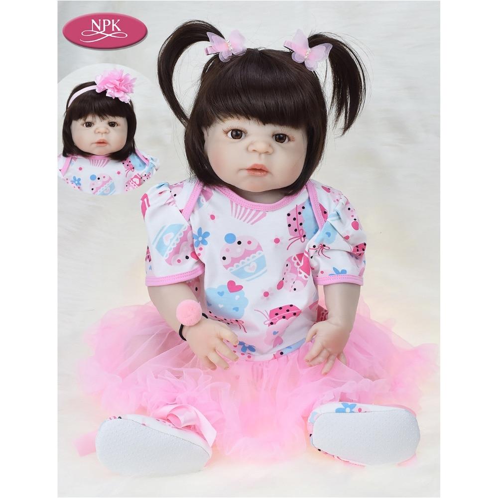 npk 57cm real full body silicone girl reborn baby doll bath toys lifelike baby princess realistia doll bebe reborn bonecas reais in dolls from toys
