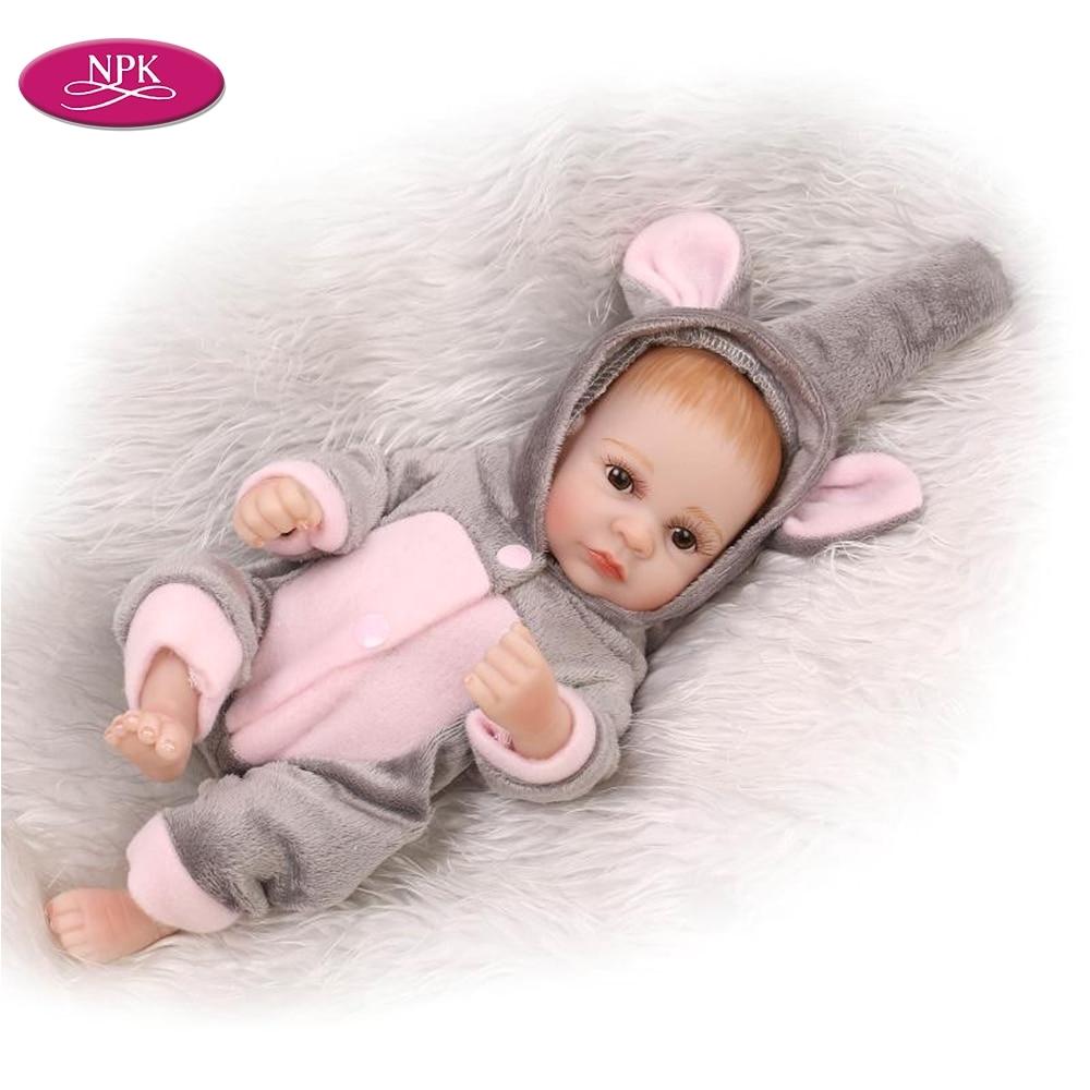 npk baby bath toys doll full body silicone vinyl 27cm 11 simulation little baby boys girls reborn dolls play house fake babies in dolls from toys hobbies