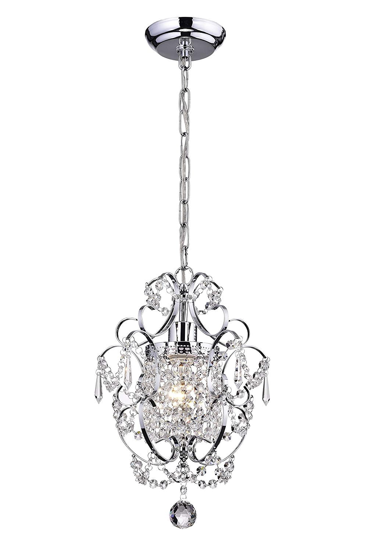 amorette chrome finish mini chandelier wrought iron ceiling light fixture amazon com