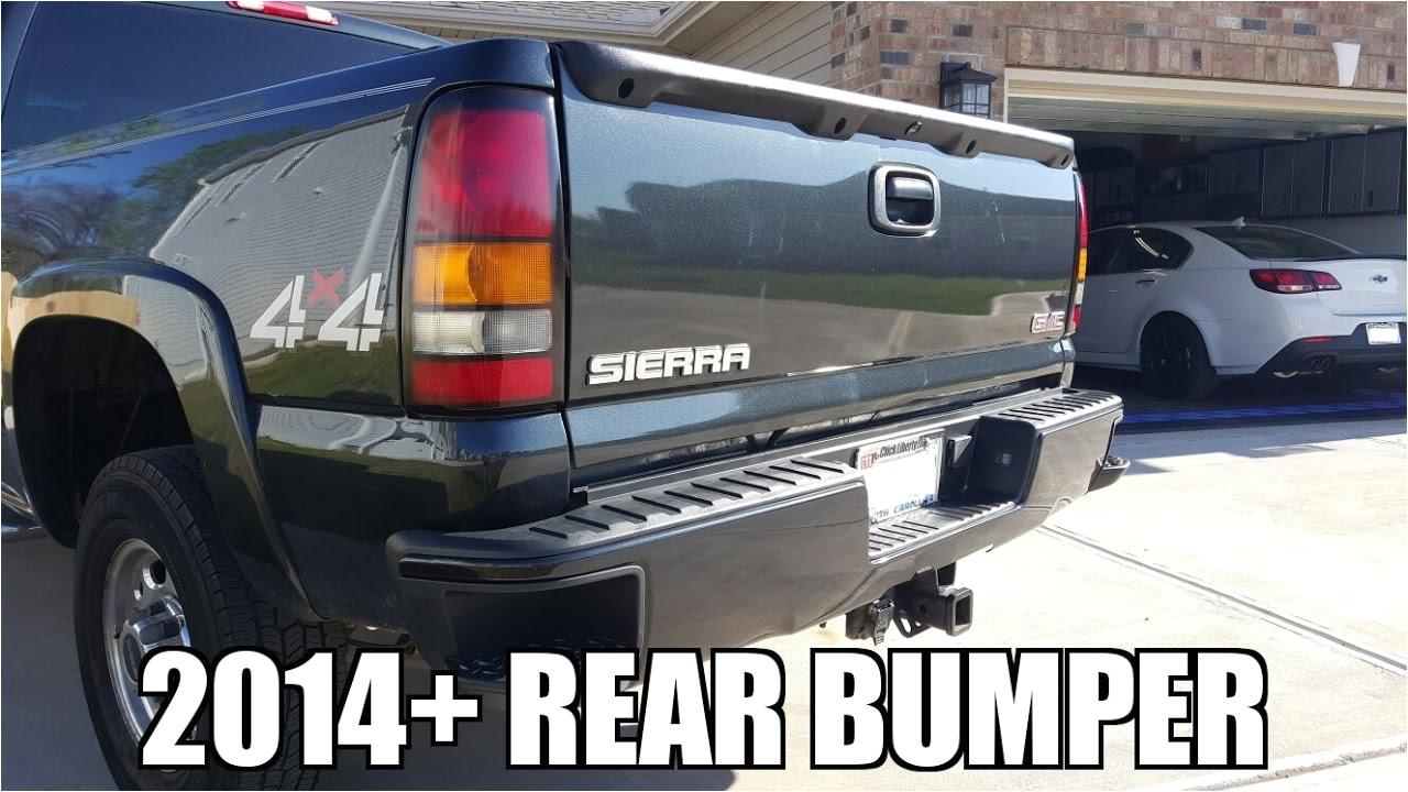 2005 gmc sierra 2500hd adding 2014 sierra silverado rear bumper
