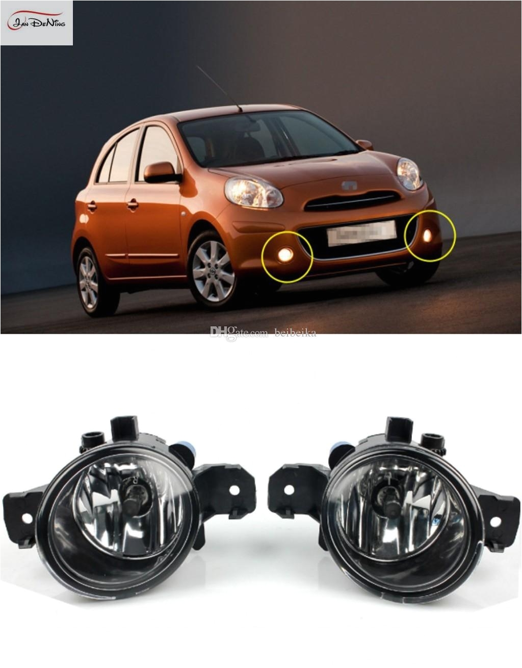 car fog lights for nissan micra march 20052010 clear front fog lamp light replace assembly kit one pair custom fog lights for cars different color fog