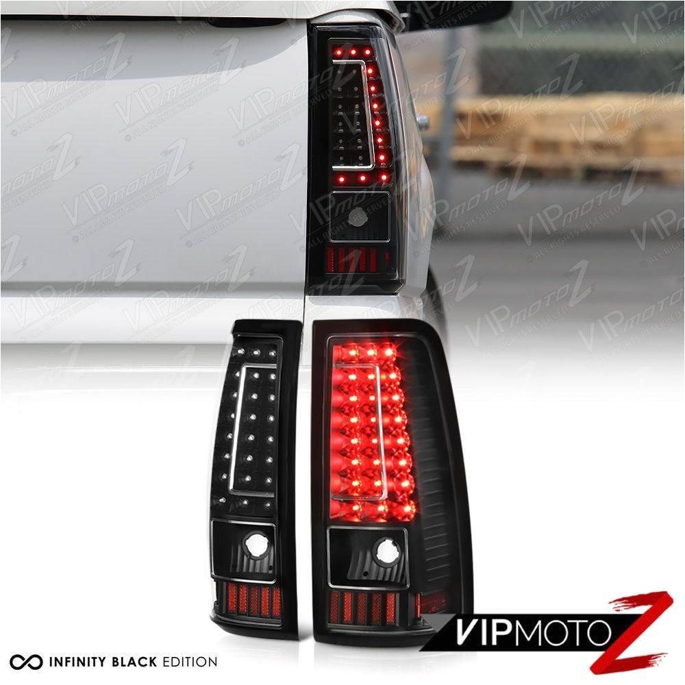 2003 2006 chevy silverado 1500 2500 3500 c shape black led rear tail lights