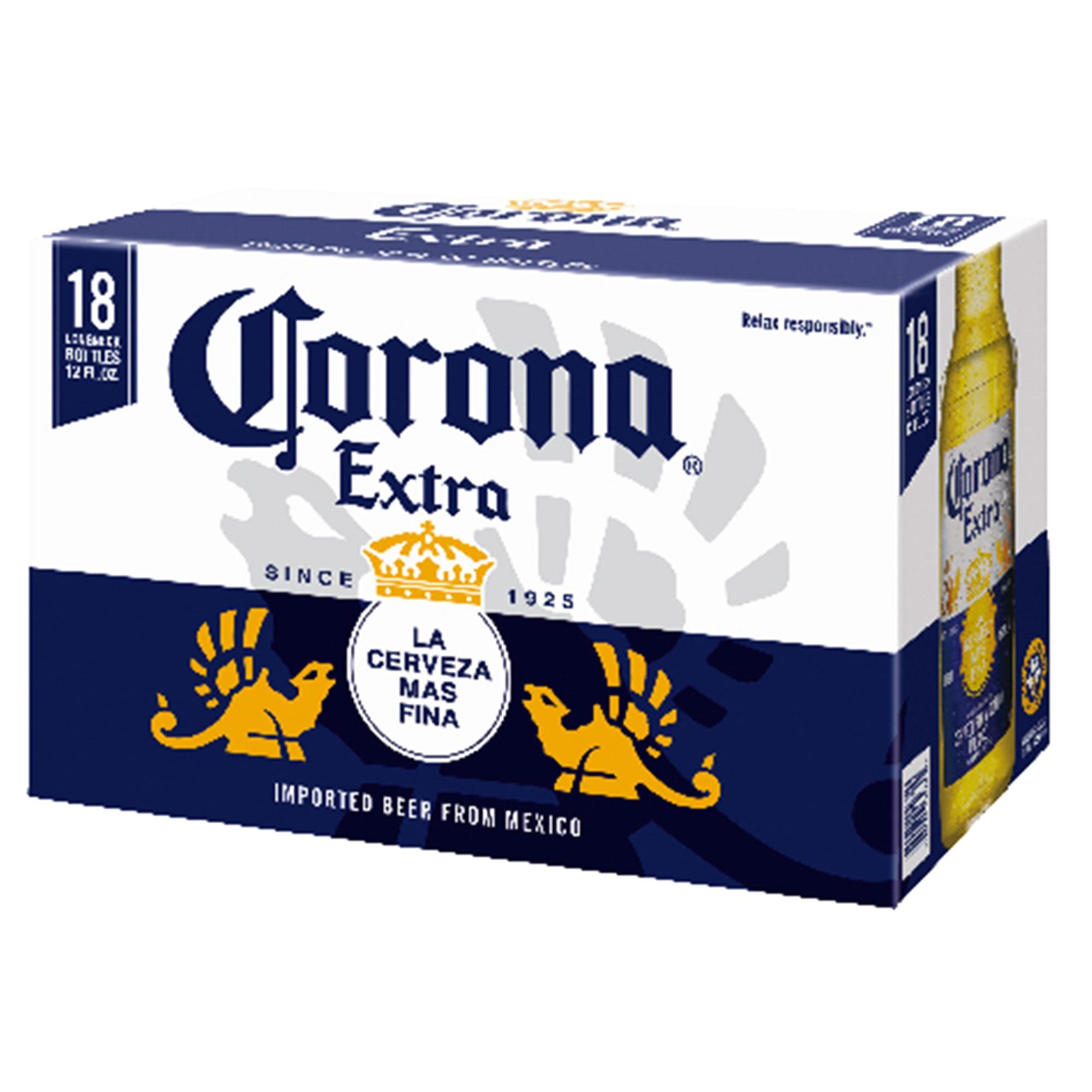 corona extra beer 12 oz 18 pk