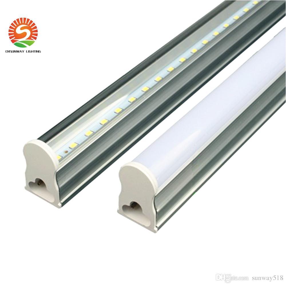 in stock t5 integrated led tube light 2ft 12w 3ft 4ft 22w ledtubes fluorescent tubes lamps warm nature cool white ac85 265v wall lamps t8 tube light t8
