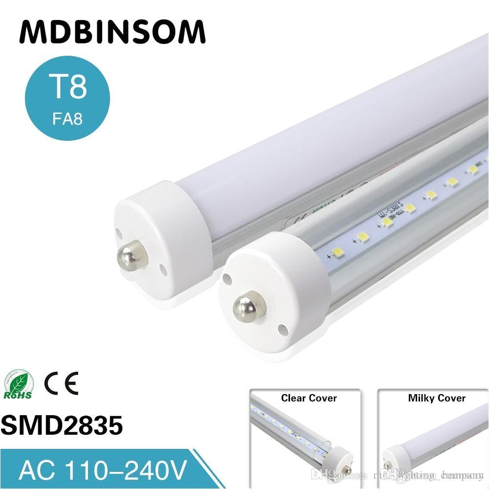 stock in t8 fa8 single pin led tube lights 8 feet led 8ft single pin light 45w 4800lm led fluorescent tube lamps 2 4m 85 265v led tube light circuit