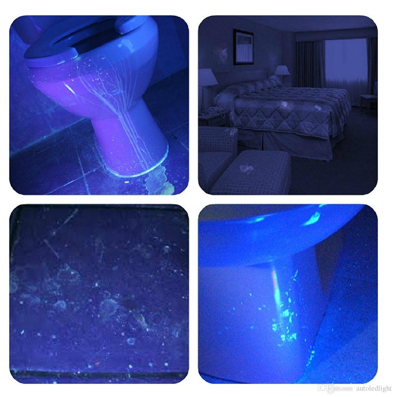 100 led blacklight uv flashlight emits a powerful 30 foot ultraviolet flood light beam