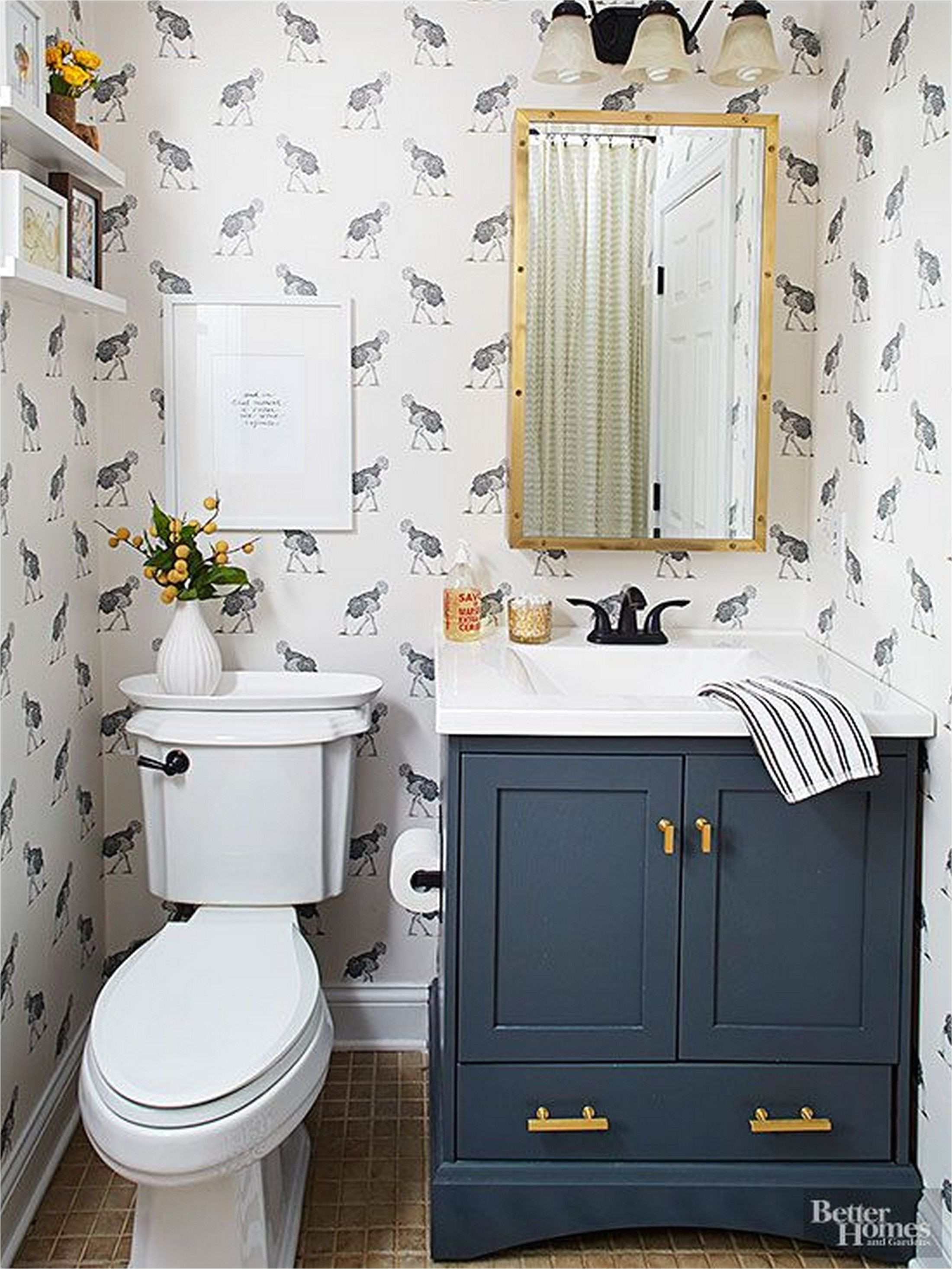 image result for 30 dark blue bathroom vanity