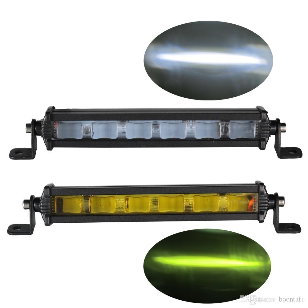 6d 8inch 18w slim mini led light bar single row work lights for off road trucks boat fog lamp bulbs amber light led light on led light portable from
