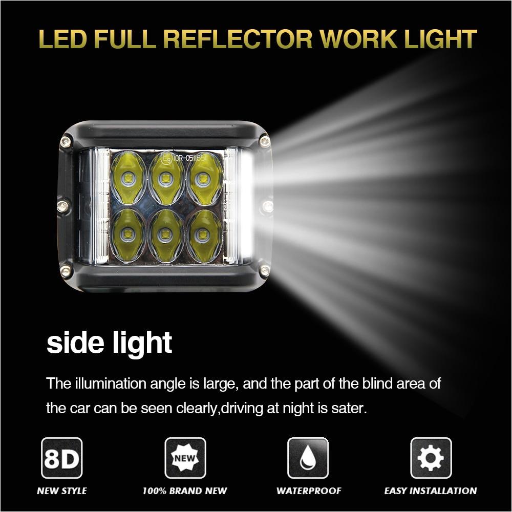 co light 4inch led light bar 45w led work light 12v 24v spot flood for 4x4 offroad atv truck boat utv auto driving light led bar in light bar work light