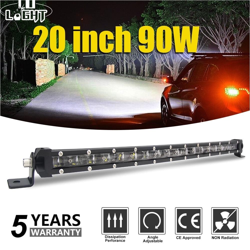 co light super slim 6d 20 inch 90w led light bar combo led beams auto work light for jeep atv lada niva off road 12v 24v led bar in light bar work light