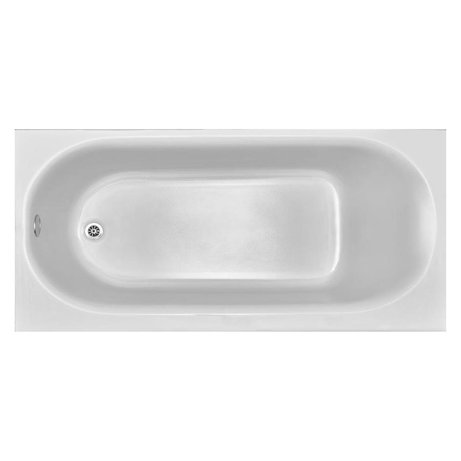 american standard princeton 60 in white porcelain enameled steel rectangular left hand drain alcove