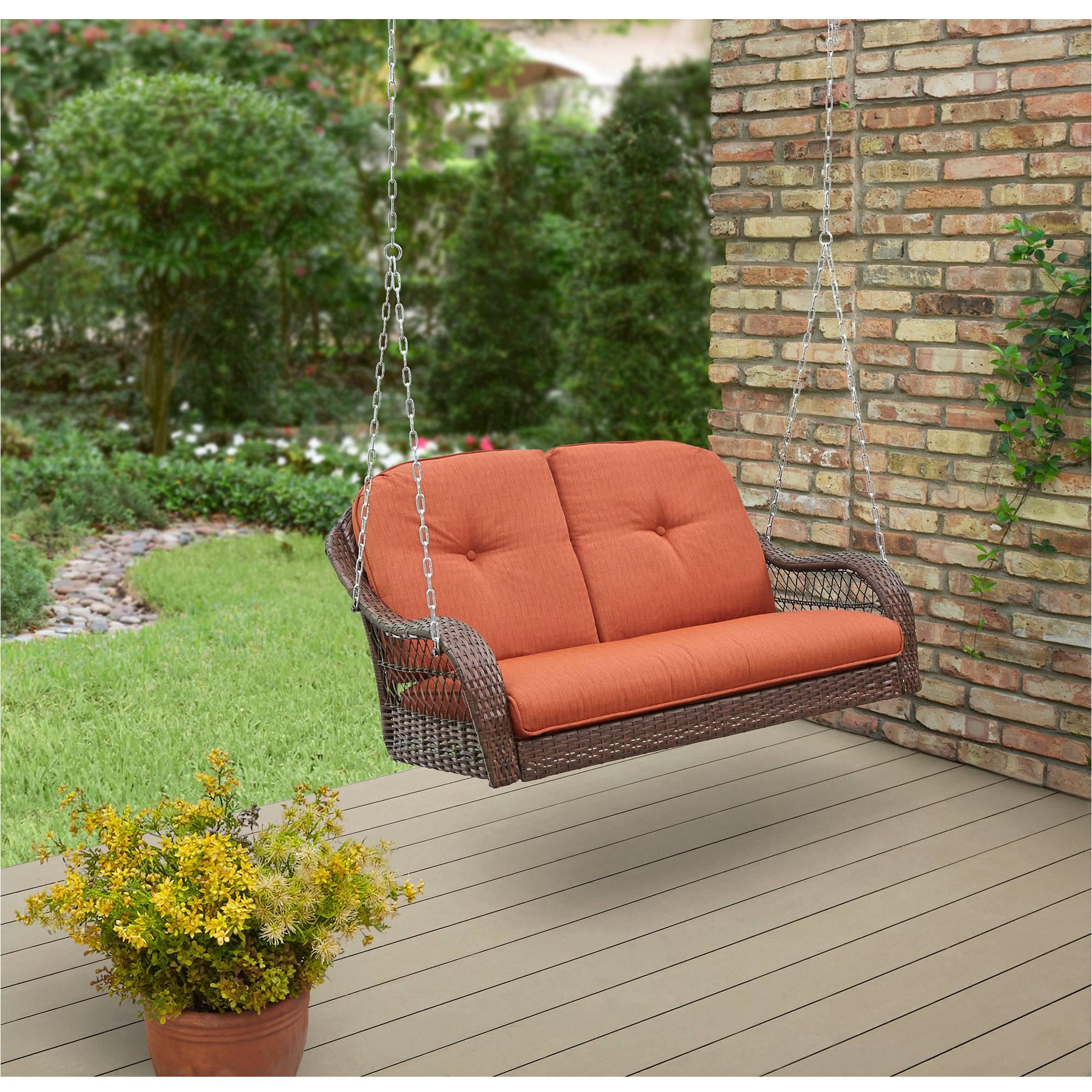 better homes gardens azalea ridge 2 person outdoor swing vermillion walmart com