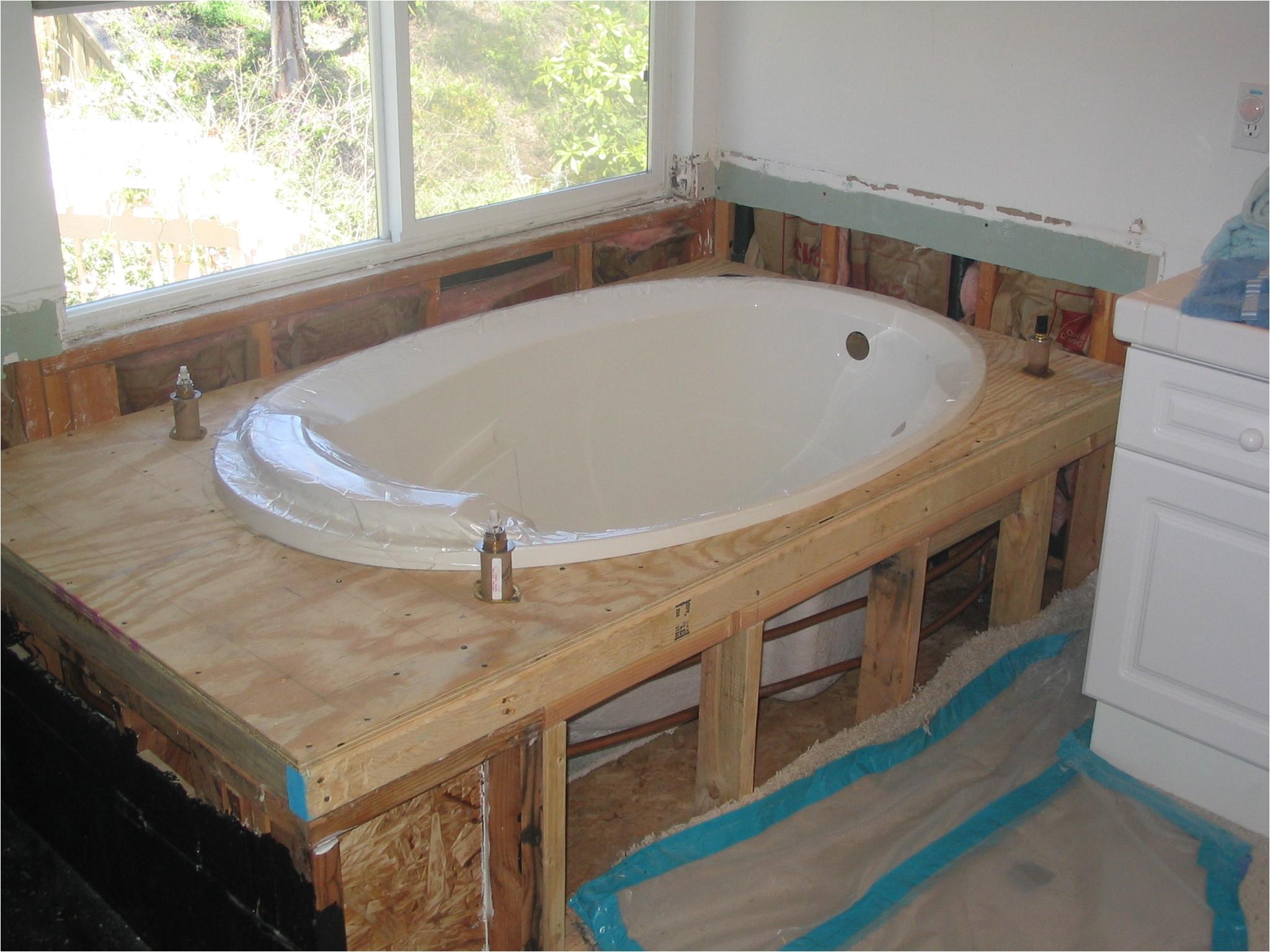 fitting a bath how to install a new bathtub