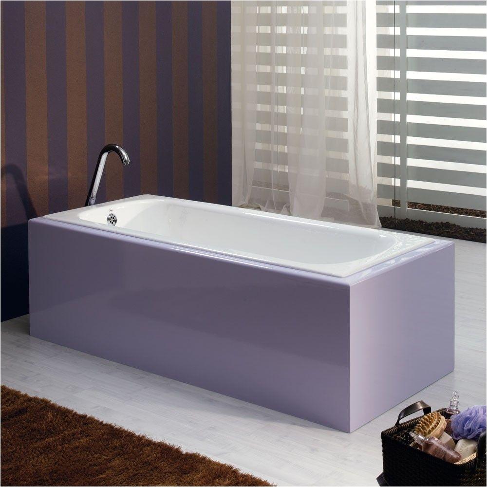 bella casa 59 inch cast iron drop in tub no faucet drillings