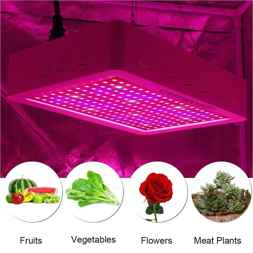 amazon com castnoo led grow light 600w full spectrum indoor plant grow light with ac power adapterincluded garden outdoor