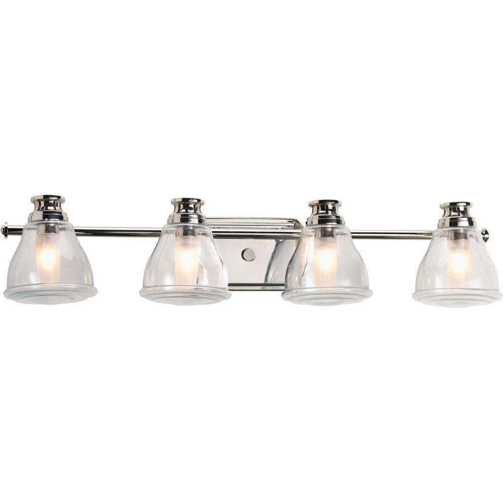 8 Bulb Vanity Light Progress Lighting 6 Light Chrome Bathroom Vanity Light P3026 15