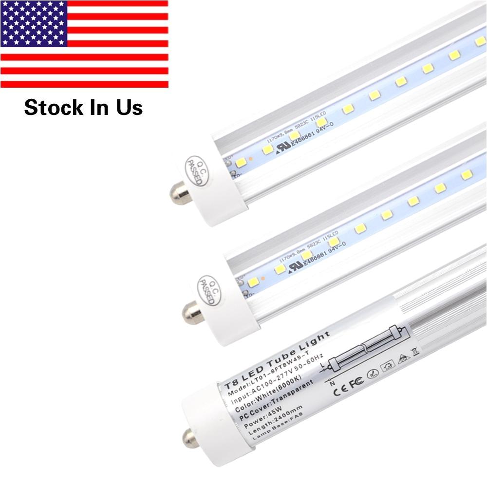 t8 led light tube 8ft 45w fa8 single pin replacement philips 38177 4 f96t12 cw ho 110 watt fluorescent tube 6000k cold white led light tube led t8 tube