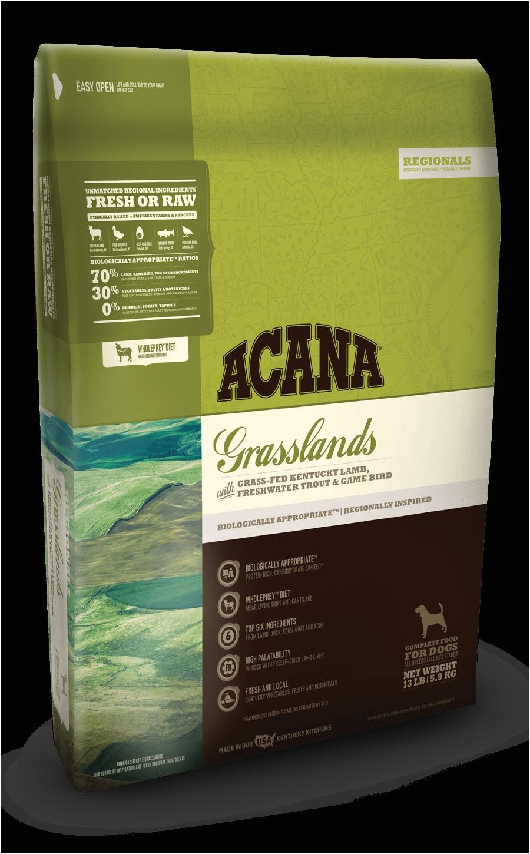 acana grasslands bags