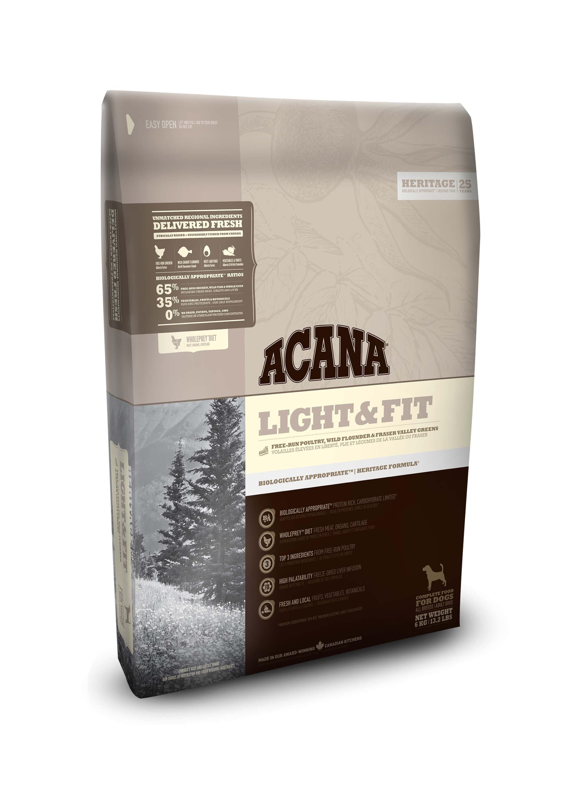 acana light and fit dog food