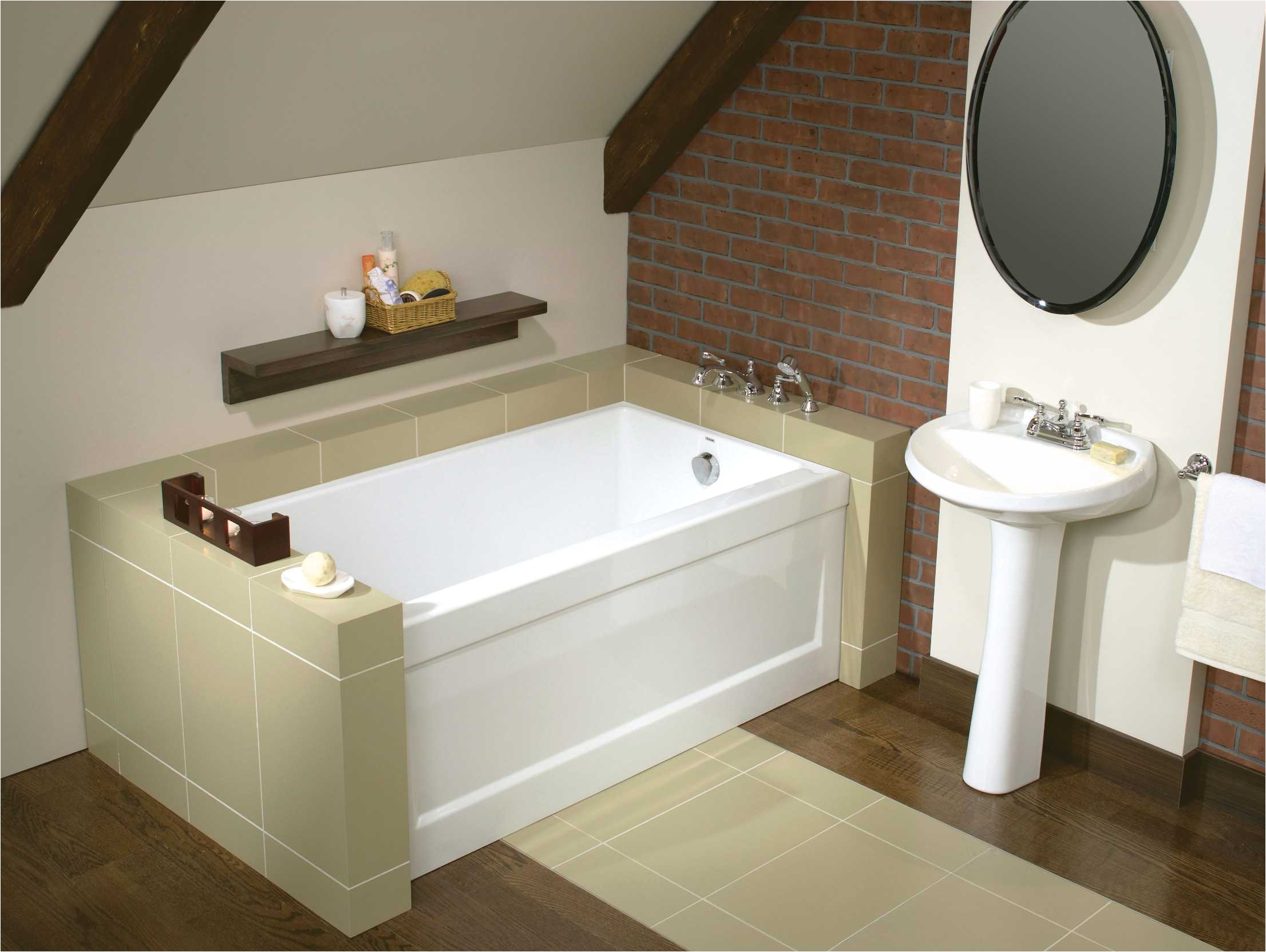 skyline a alcove bathtub maax professional 24 deep w tile flange and apron