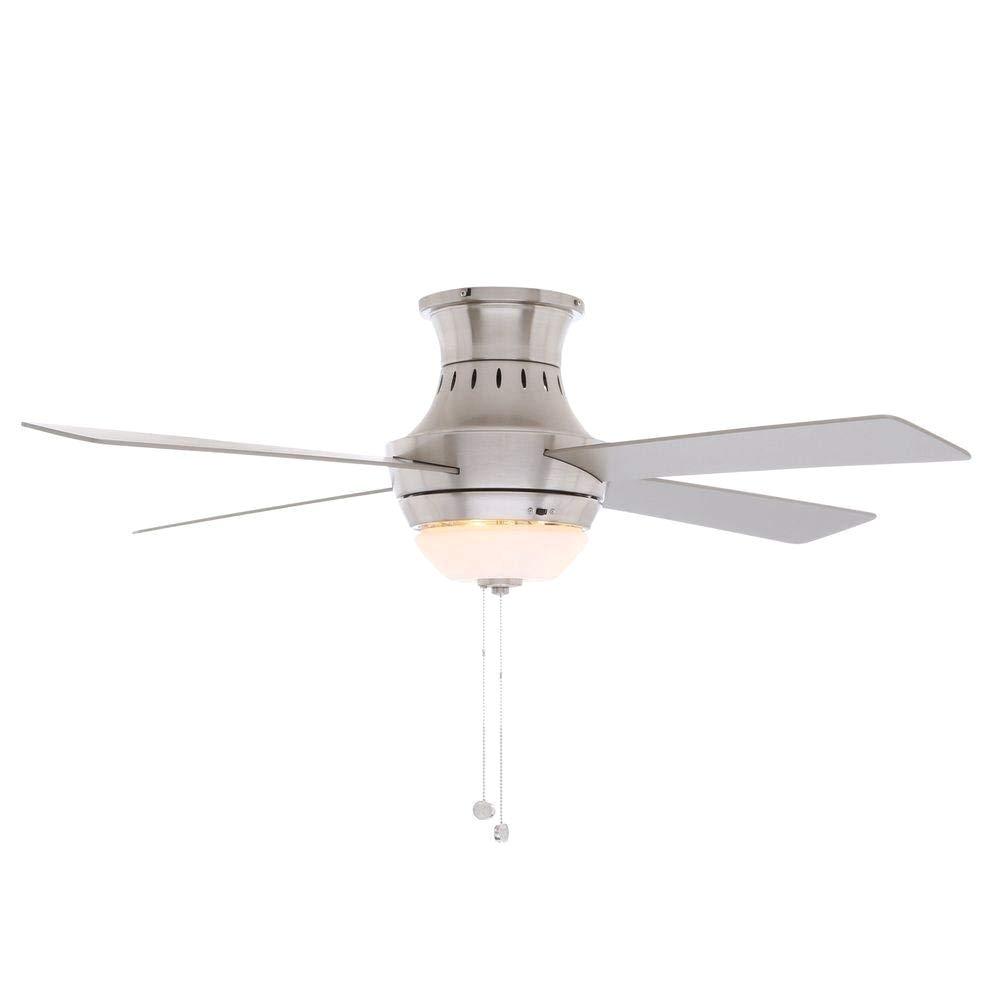 brushed nickel ceiling fan amazon com