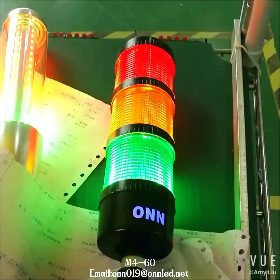 12v led signal warning light plc control flashing steady light