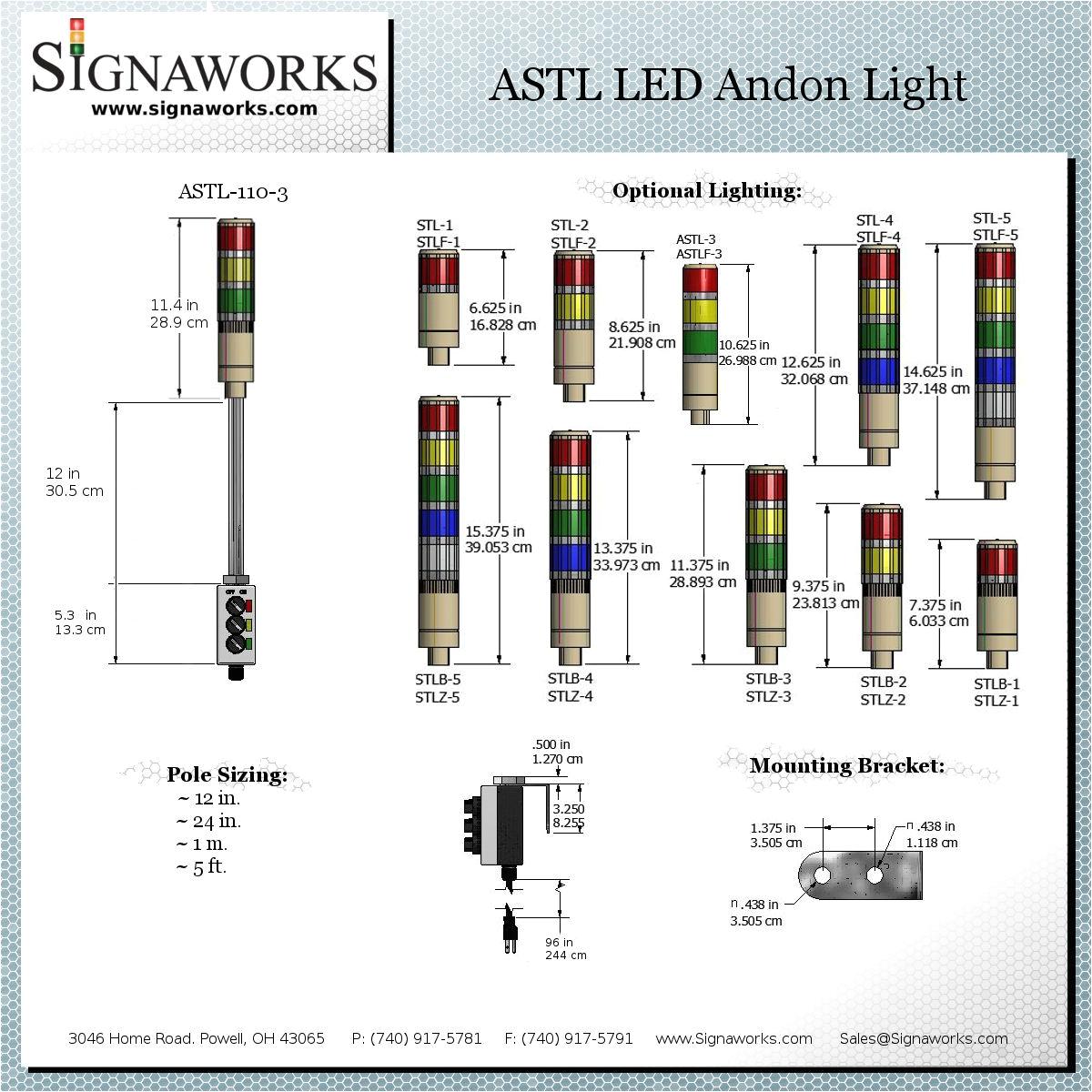 astl dimension diagram