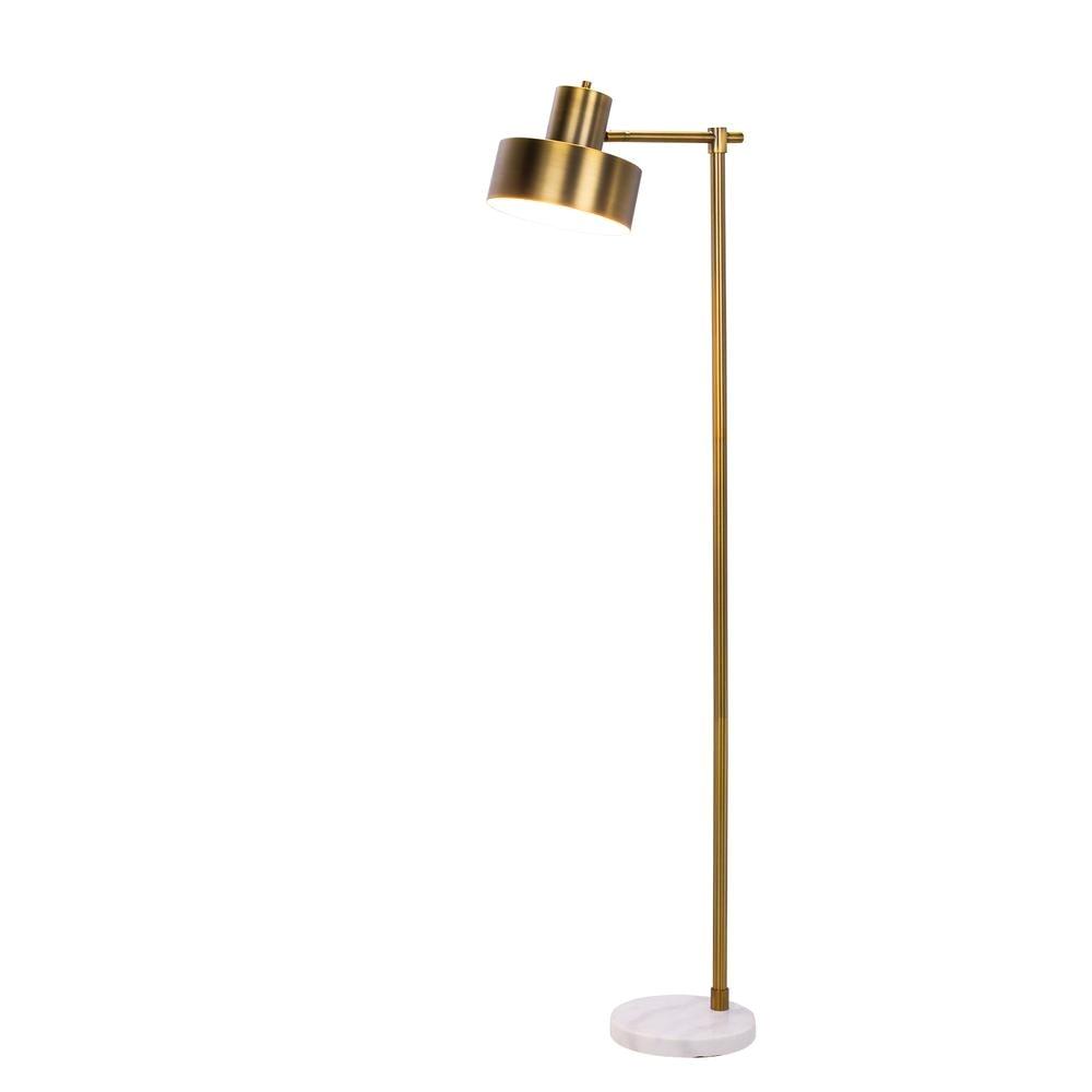 fangio lighting 62 in marble and antique brass metal floor lamp