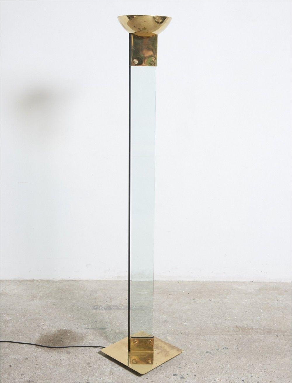 italian brass glass laser floor lamp by max baguara for lamperti