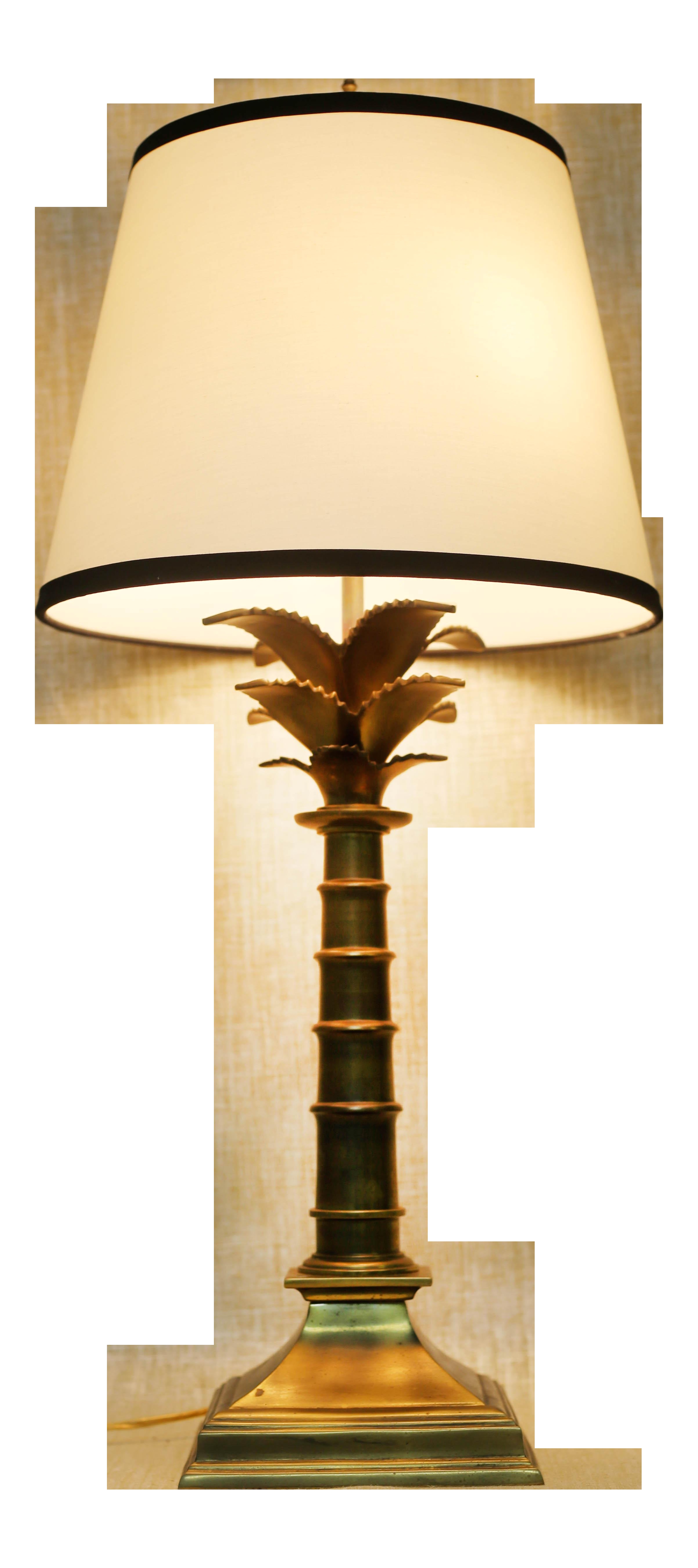 vintage brass palm tree lamp by leviton on chairish com tree lamp brass lamp