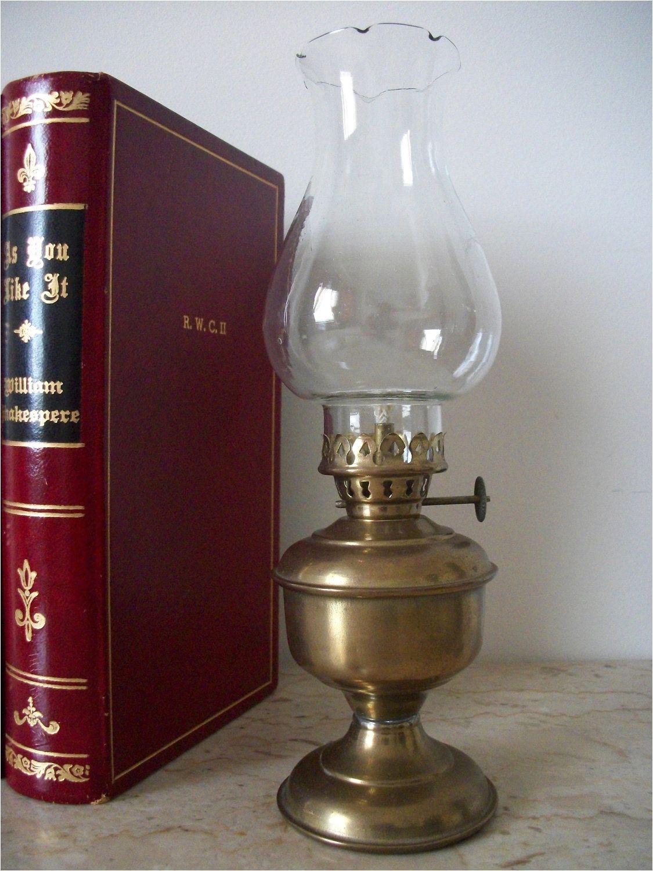 vintage brass hurricane oil lamp 25 00 via etsy