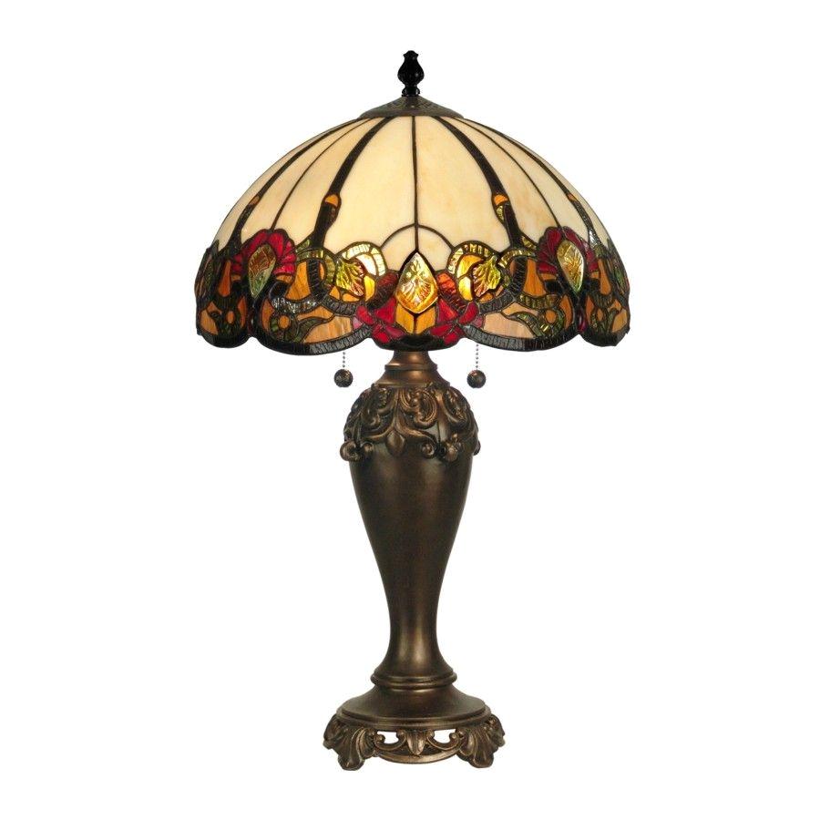 dale tiffany lamps northlake table lamp in dark antique bronze tt90235