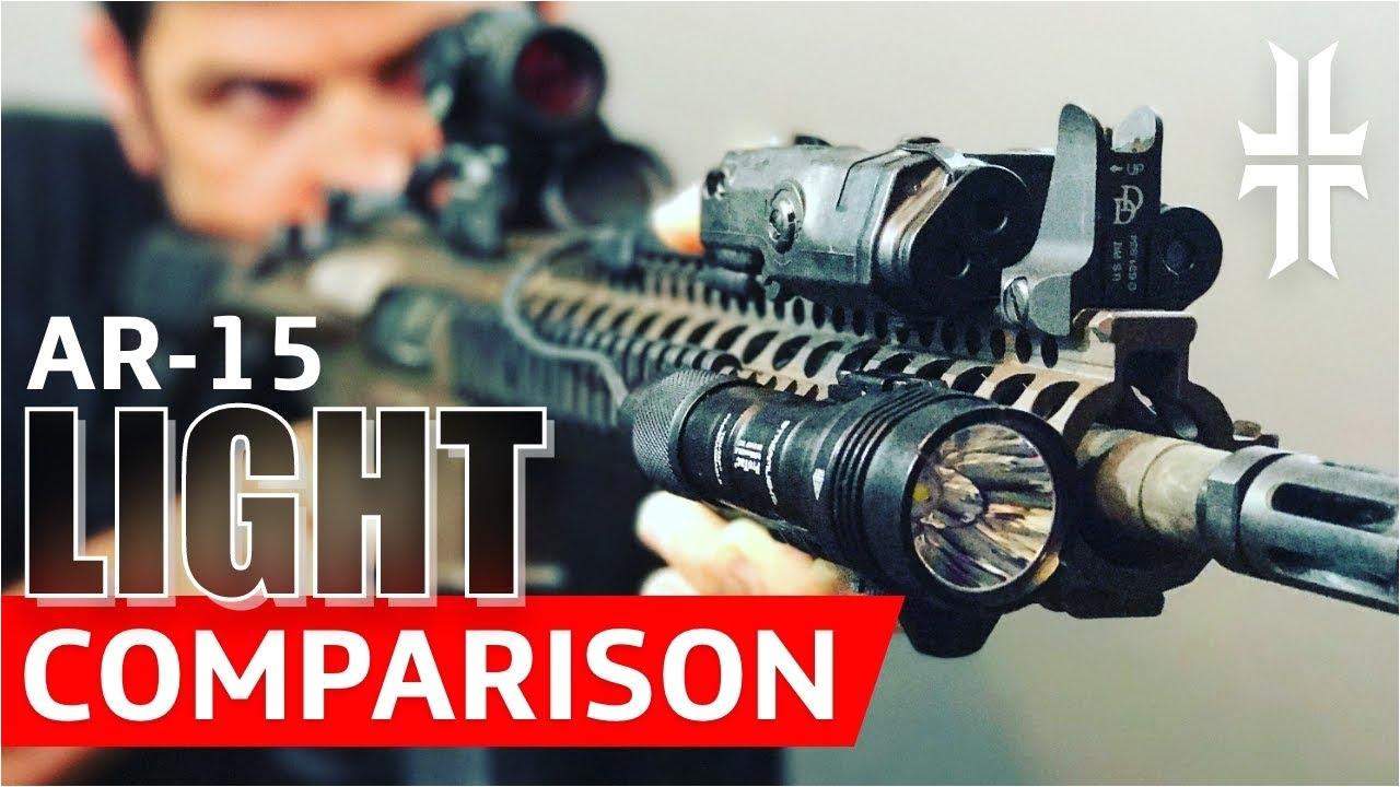 ar 15 flashlight comparison streamlight vs surefire