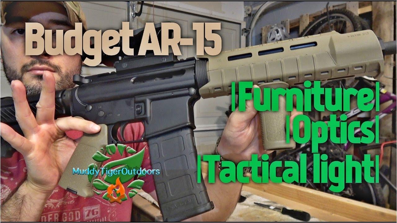 budget ar 15 magpul furniture optics tactical light muddytigeroutdoors