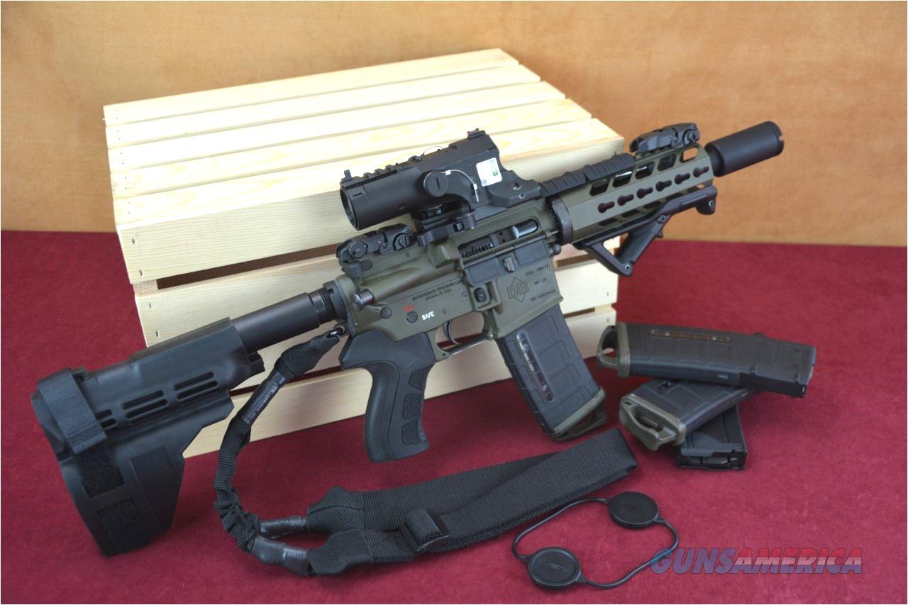 db15p ar 15 pistol od green battle ready ar15 case included guns