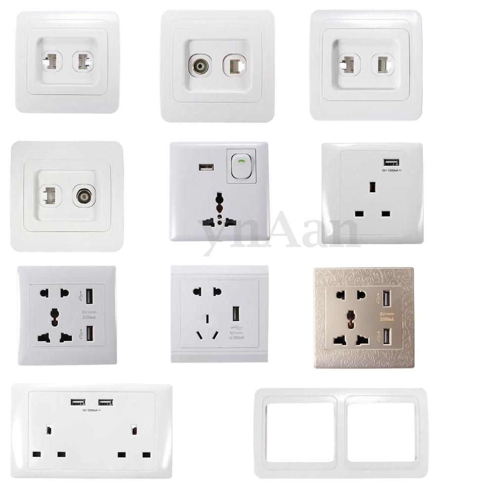 As Seen On Tv Light Switch Universal Uk Usb Outlet Wall Electrical Light Switch socket F Tv