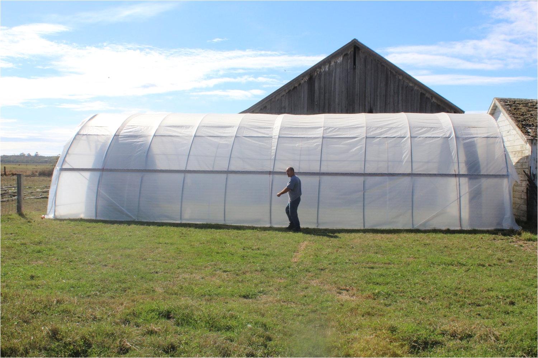auto light dep greenhouse with interior frame