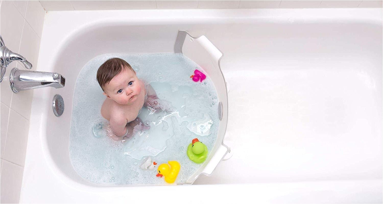 amazon com babydam bathwater barrier converts a standard non textured bathtub to a baby bathtub baby