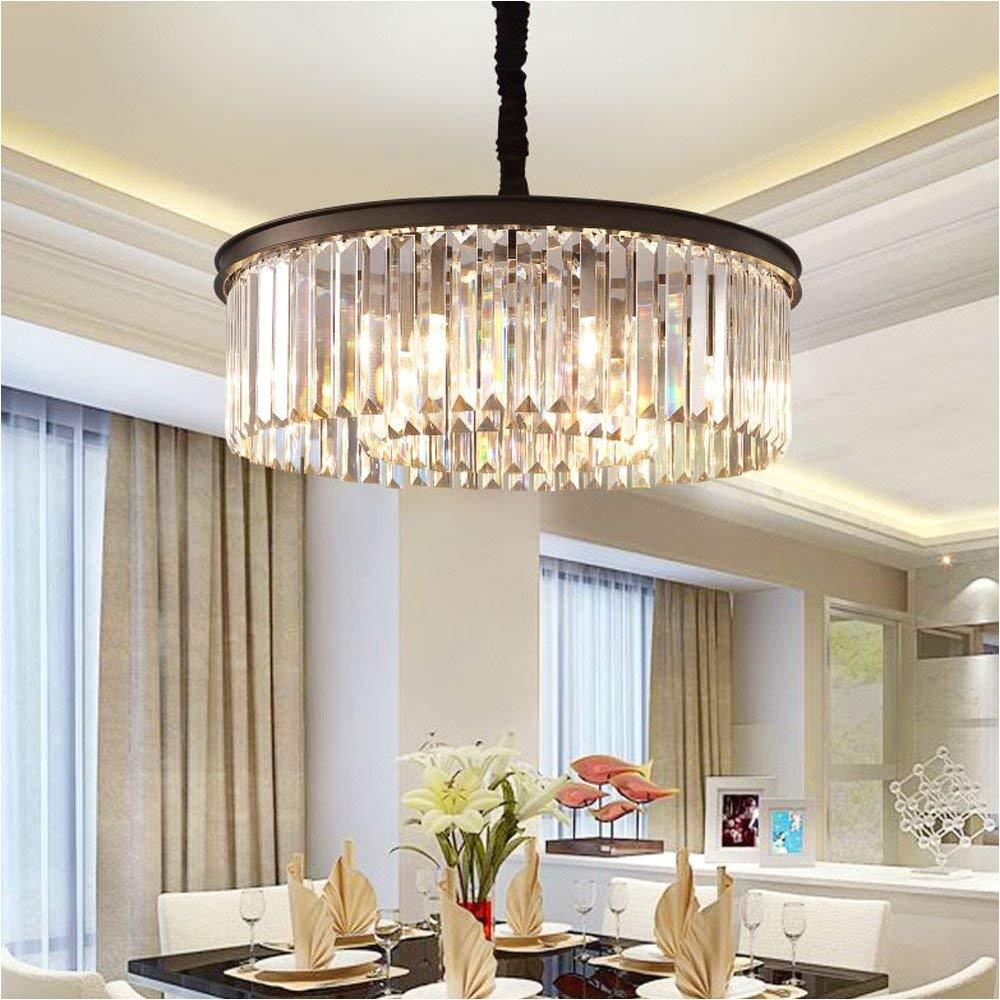 amazon com meelighting crystal chandeliers modern contemporary ceiling lights fixtures pendant lighting dining room living room chandelier d21 6 h7 1