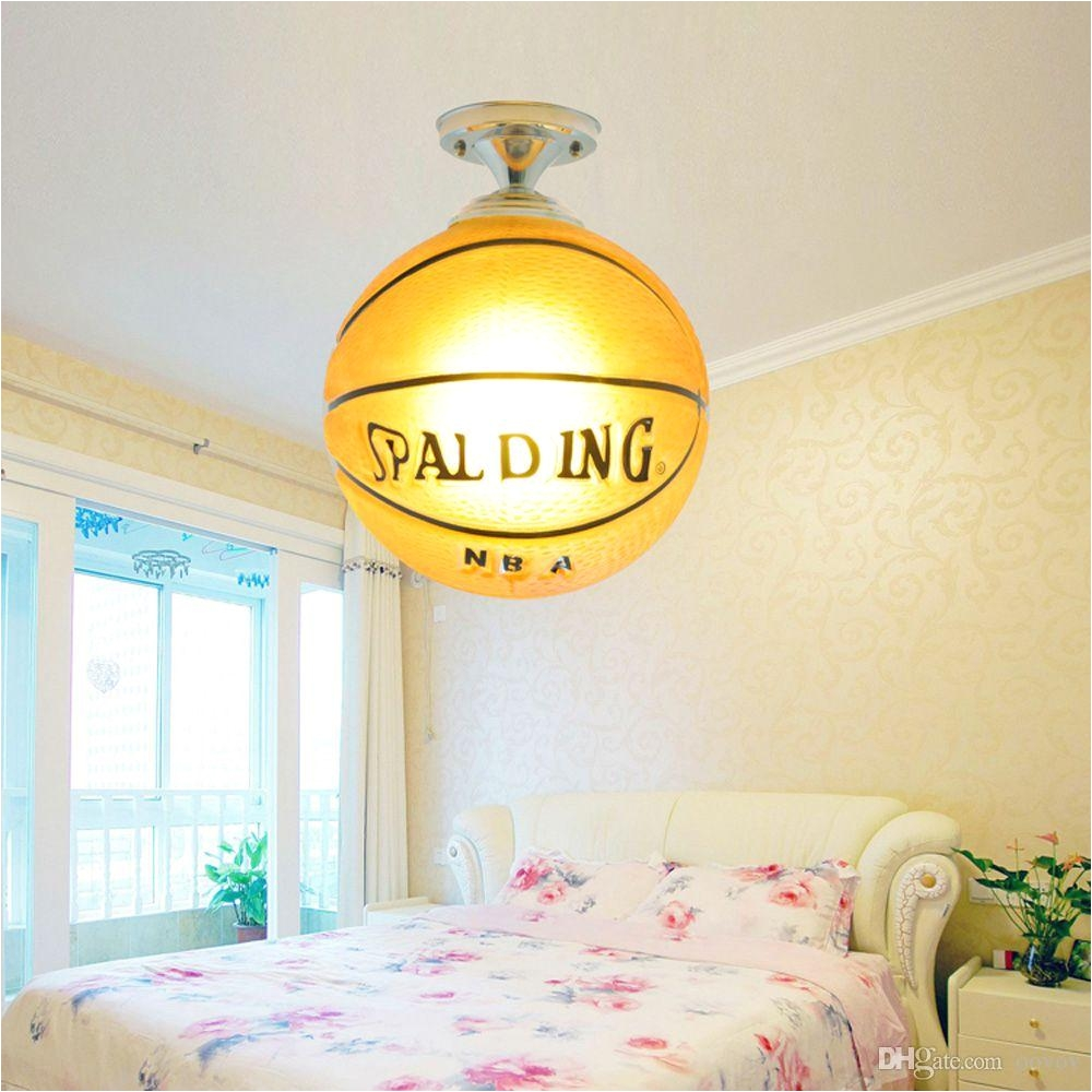 oovov creative cartoon basketball childrens room ceiling lamp lifelike boys room ceiling lights baby room ceiling