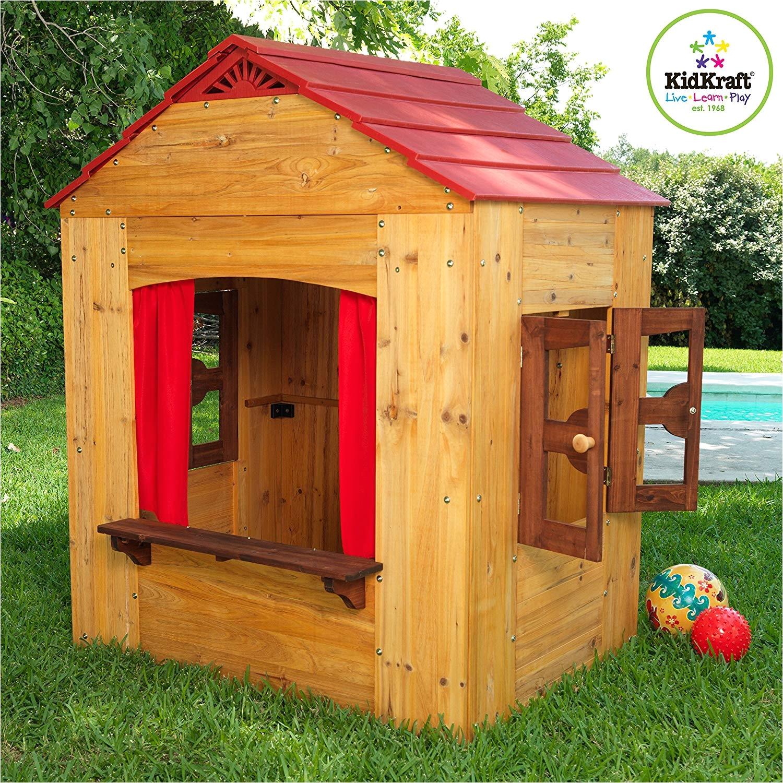 Backyard Discovery My Cedar Playhouse Amazon Com Kidkraft Outdoor Playhouse toys Games