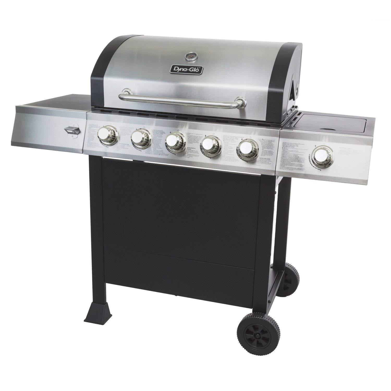 amazon com dyna glo dgb515sdp d 5 burner open cart propane gas grill garden outdoor
