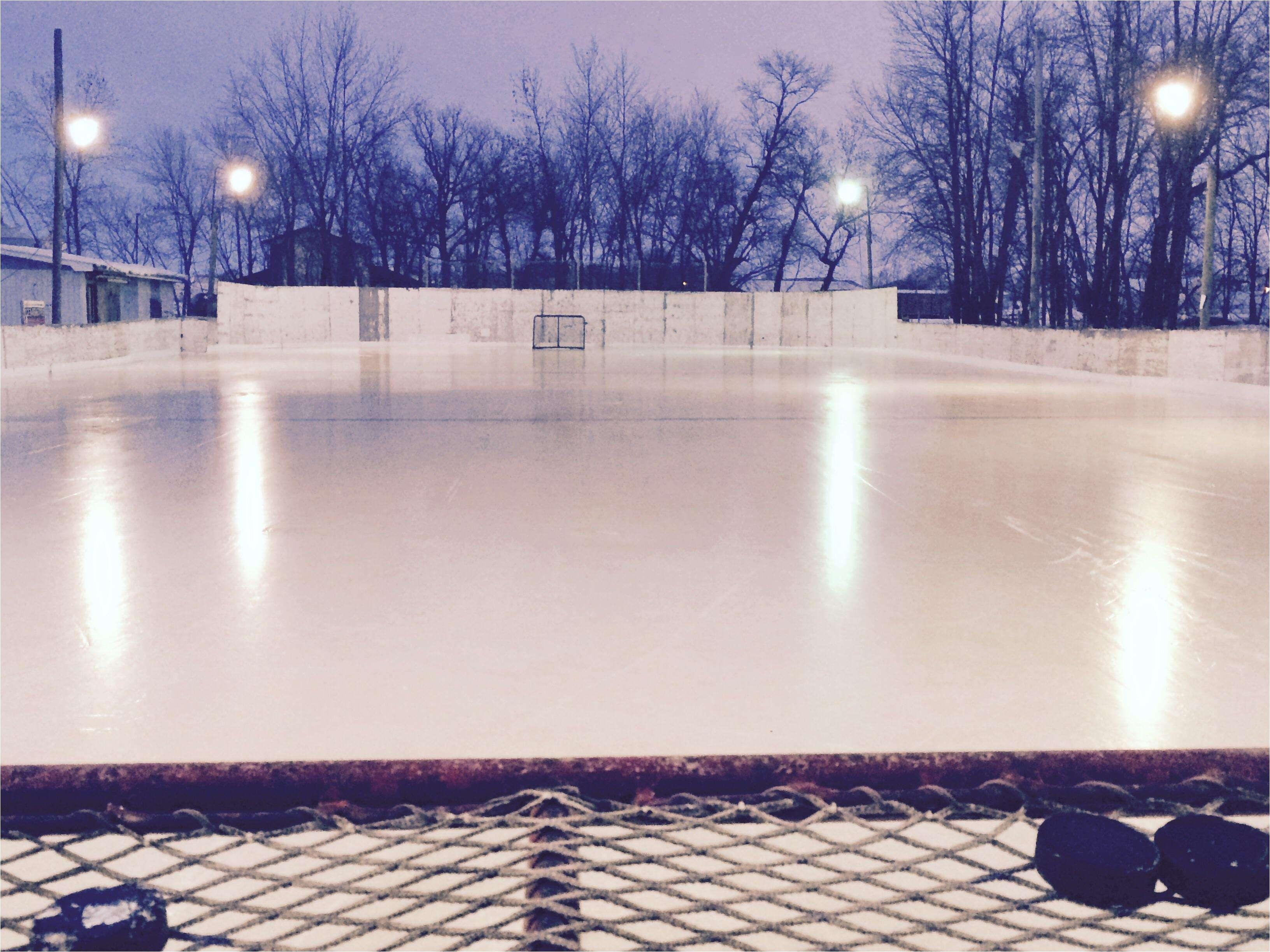 a backyard ice rink zamboni inspirational nothing like od hockey hockeyplayers