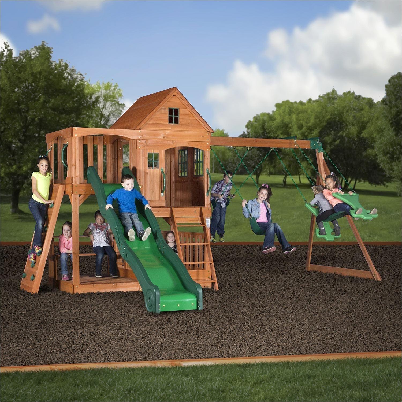 backyard swing sets walmart pacific view wooden swing set