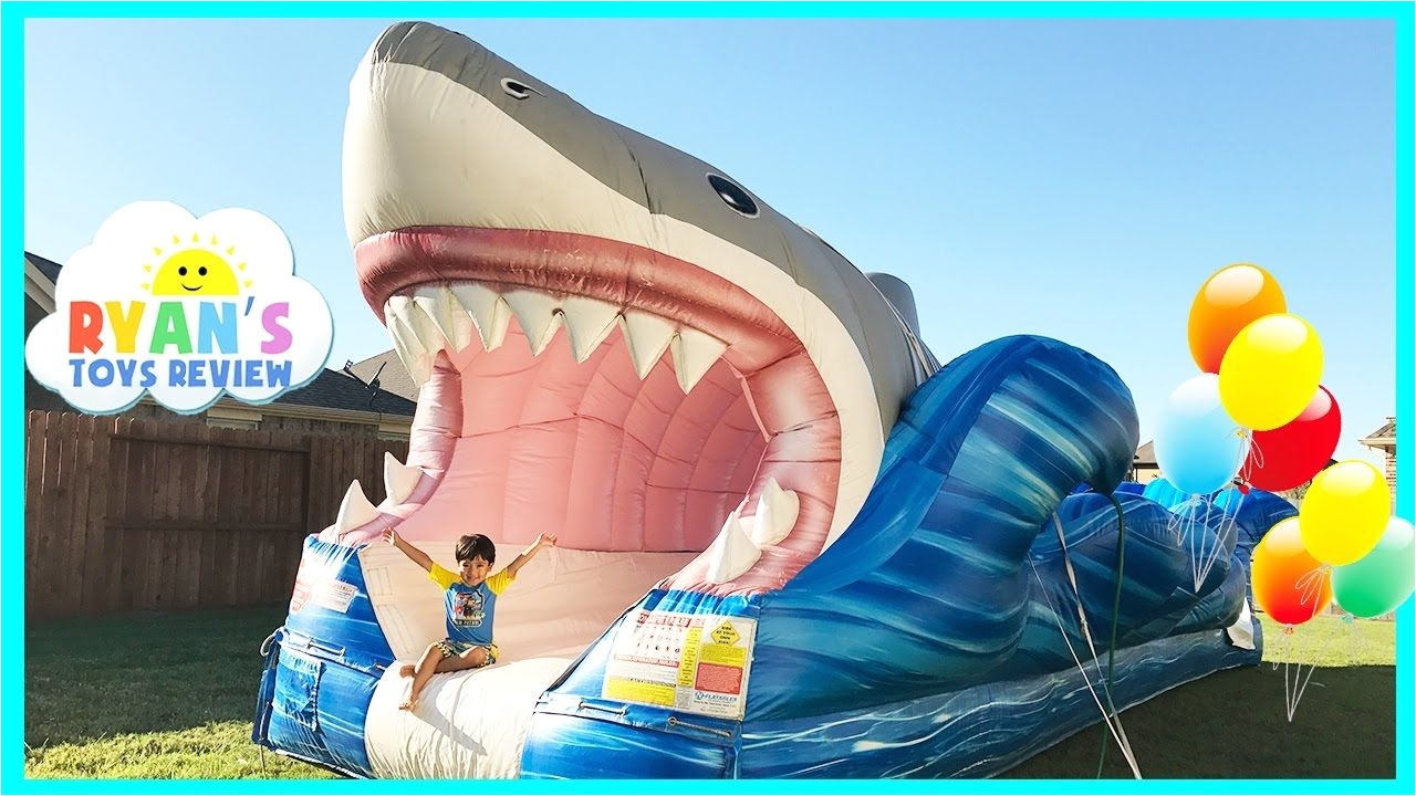nice giant inflatable shark water slide for kids toys family fun giant slip n slide party