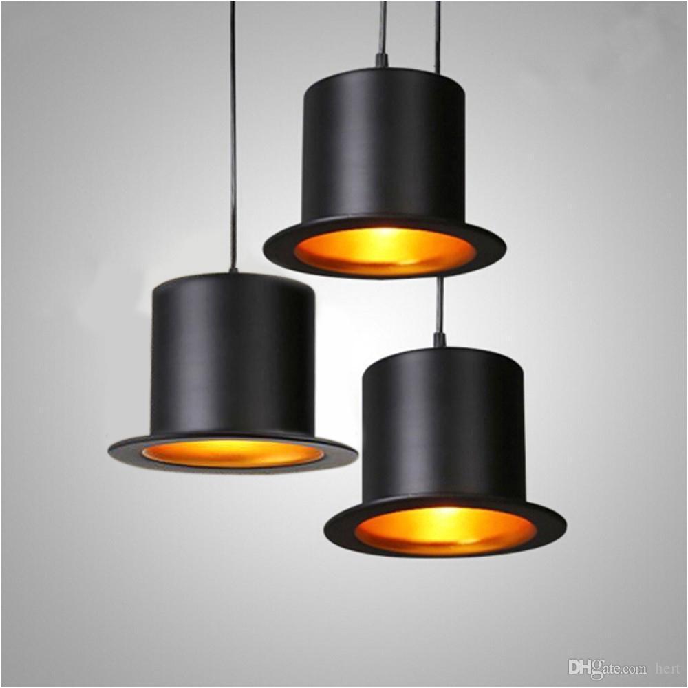 modern hat pendant lights cafe restaurant bar e27 indoor hanging led lighting fixture for christmas home