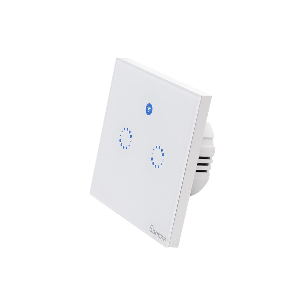 Basic Wireless Light Switch Kit sonoff T1 1 2 Gang Wifi Rf Eu Smart Wall touch Light Switch