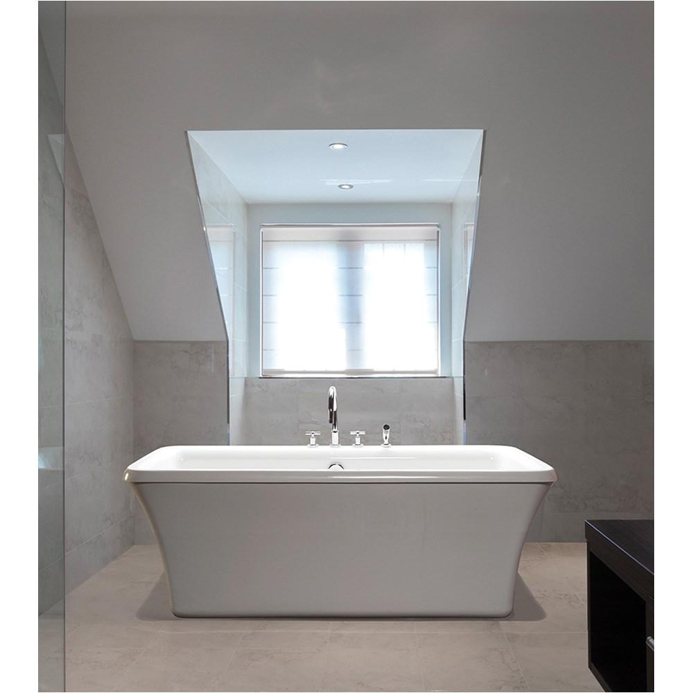 mti basics freestanding bathtub 65 5 x 35 75 x 22 5 free shipping modern bathroom